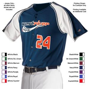 Alleson PROMMJY Youth Full Button Baseball Jerseys