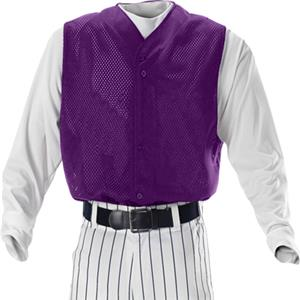 Alleson BFMVST Full Button Mesh Baseball Vests