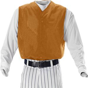 Alleson BFMVSTY Youth Full Button Baseball Vests