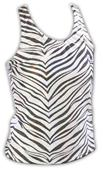 Pizzazz Cheerleaders Zebra Glitter Racer Back Tops