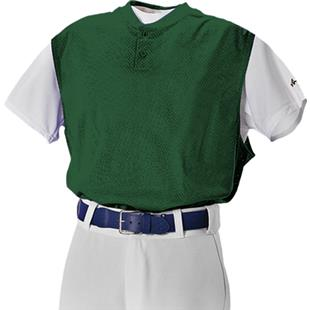 Alleson Two Button Mesh Baseball Vests-Closeout