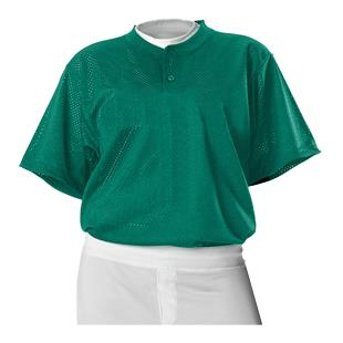 Alleson Two Button Mesh Baseball Jerseys-Closeout