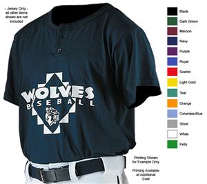 Alleson 522PC Adult Two Button Baseball Jerseys