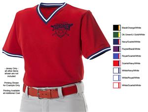 Alleson 500MLJ Adult V-Neck Mesh Baseball Jerseys