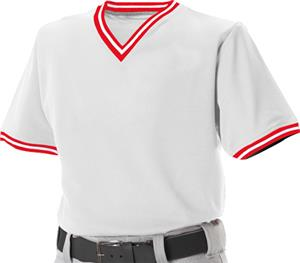 Alleson 500MLJY Youth V-Neck Mesh Baseball Jerseys