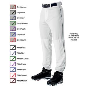 Alleson 605PLP Adult Baseball Pants with Piping