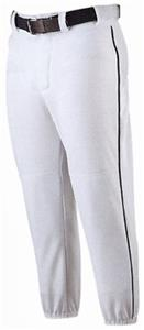Alleson 605PLPY Youth Baseball Pants with Piping