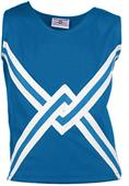Teamwork Crossover Cheer Shell w/Crossover Stripe