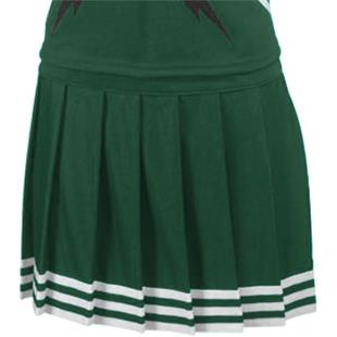 Teamwork Pleated Cheer Skirt with 5 Stripe Trim