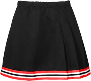 Teamwork Womens & Youth 3-Pleat Cheer Skirt w/Trim