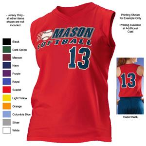 Alleson 522VWY Girl's V-Neck Softball Jerseys
