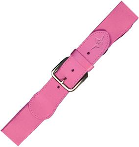 "Alleson Adult 1 1/2"" Elastic Pink Baseball Belts"