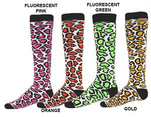Red Lion Leopard Print Athletic Socks