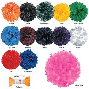"""Getz Adult Cheerleaders 3/4"""" Solid Plastic Poms"""