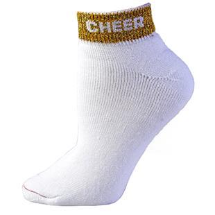 """Pizzazz Cheerleaders  """"Cheer"""" Anklet Socks"""