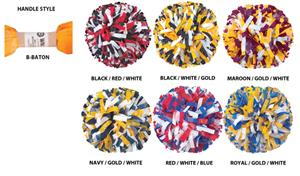 Getz Adult Cheerleaders 3 Color Mix Poms
