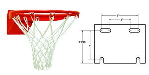 College Basketball Shot Rim Goal Pigtail Net