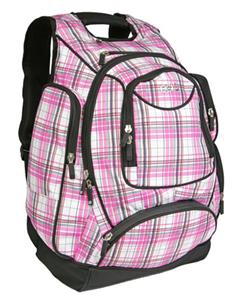 Ogio Metro Pink Plaid Backpack Fits 15