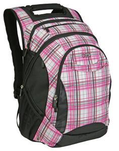 Ogio Politan Pink Plaid Backpack Fits 17