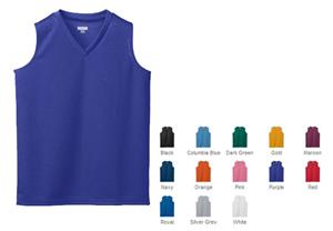 Augusta Girls' Wicking Mesh Sleeveless Jersey