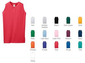 Augusta Sportswear Girls Sleeveless V-Neck Jersey