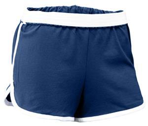 Soffe Girls Junior Retro Jersey Shorts with Stripe