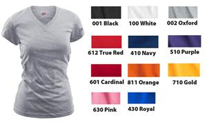 Soffe Juniors V-Neck Tissue Tee Shirts