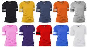 Soffe Juniors V-Neck Football Tee