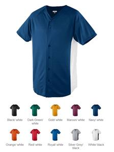 Augusta Wicking Color Block Button Front Jerseys