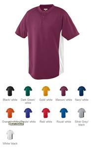 Augusta Wicking Color Block Two-Button Jerseys