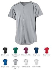 Augusta Wicking Button Front Baseball Jerseys