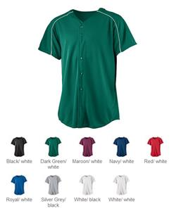 Augusta Youth Wicking Button Front Baseball Jersey