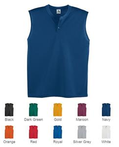 Augusta Mesh Sleeveless Two-Button Jerseys