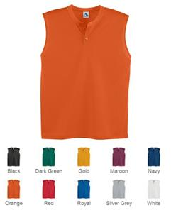 Augusta Youth Mesh Sleeveless Two-Button Jerseys