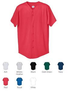 Augusta Sportswear Button Front Baseball Shirt