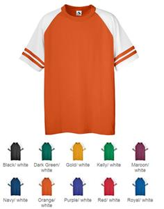 Augusta Youth Sleeve Stripe Six-Ounce Jerseys