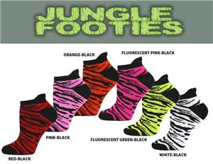Red Lion Jungle Footie Socks