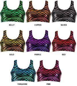 JB Bloomers Metallic Zebra Print Sport Bras