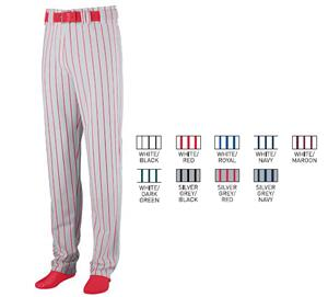 Augusta Striped Open Bottom Baseball/Softball Pant
