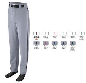 Open Bottom Baseball/Softball Pant with Piping
