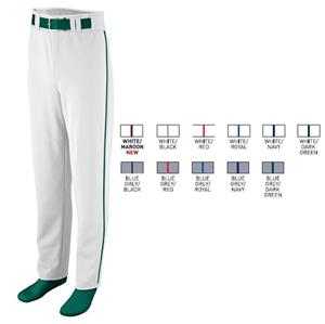 Youth Open Bottom Piping Baseball/Softball Pant
