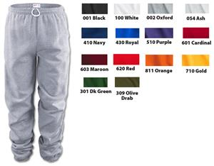 Soffe Adult Youth Heavy Weight Fleece Sweat Pants