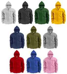 Soffe Adult Heavy Weight Zip Hoodies