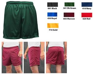 "Soffe Basic Nylon Mini-Mesh Shorts 5"" Inseam"