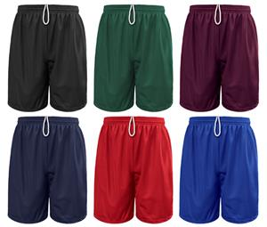 Soffe Extra Long Nylon Mini-Mesh Shorts 9""