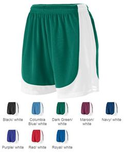 Augusta Girls' Wicking Mesh Endurance Shorts