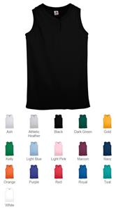 Augusta Ladies Sleeveless 2 Button Softball Jersey
