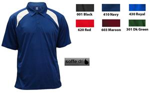 Soffe Mens Dri Coach Polo Shirts