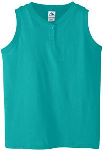 Augusta Ladies' 6 oz Sleeveless Two-Button Jersey