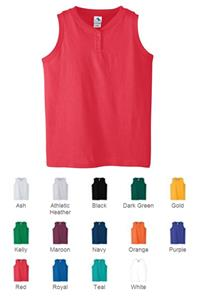 Girls Six-Ounce Sleeveless Two-Button Jersey